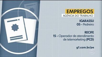 Confira vagas de emprego disponíveis através da Agência do Trabalho nesta segunda-feira