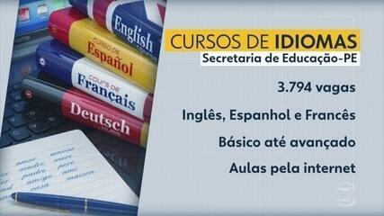 Resultado de imagem para Pernambuco oferece 3.794 vagas em cursos gratuitos de idiomas