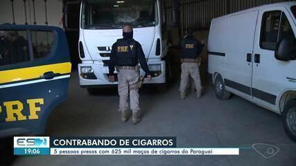 Polícia apreendeu carga com mais de 600 mil maços de cigarros contrabandeados