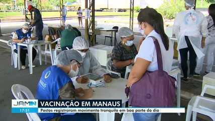 Vacinação em Manaus registra baixo movimento