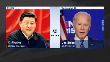 Biden manifesta preocupação com práticas econômicas da China