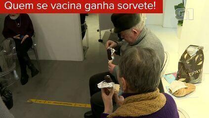 Em Moscou qualquer um pode tomar vacina contra Covid-19 - e ganha um sorvete