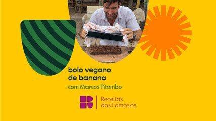 Marcos Pitombo ensina a fazer um bolo vegano de banana