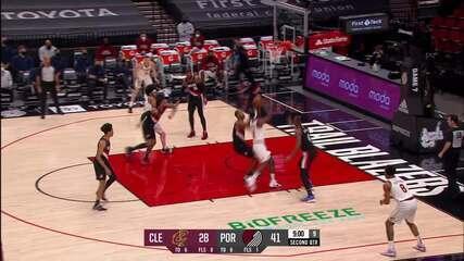Melhores Momentos: Portland Trail Blazers 129 x 110 Cleveland Cavaliers pela NBA