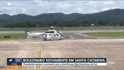 Bolsonaro chega a SC e deve se hospedar em São Francisco do Sul