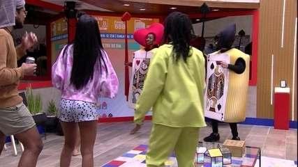 BBB21: Brothers se animam e dançam junto com Camilla de Lucas e Fiuk no Castigo do Monstro
