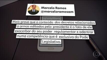 Vice-presidente da Câmara criticou Bolsonaro por ampliar acesso a armas por decretos