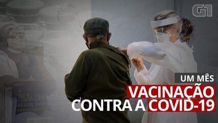 Um mês da vacinação contra Covid-19 no Brasil