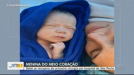 Mãe de bebê com meio coração diz que filha se recupera bem, em hospital de SP