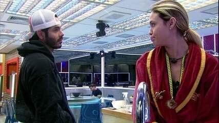 Sarah para Rodolffo no BBB21: 'Eu acho que você tem uns quatro votos'
