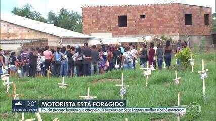 Enterrados corpos de babá e de criança atropeladas em Sete Lagoas