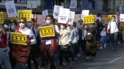 Mianmar tem mais protestos após morte de duas pessoas pelas forças de segurança