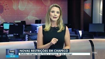 Covid-19: Chapecó anuncia novas medidas restritivas
