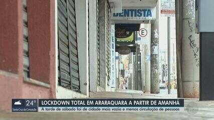 Araraquara tem ruas tranquilas e pouco movimento um dia antes da quarentena total de 60h