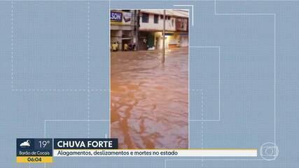 Chuva causa alagamentos, deslizamentos e mortes em Minas Gerais