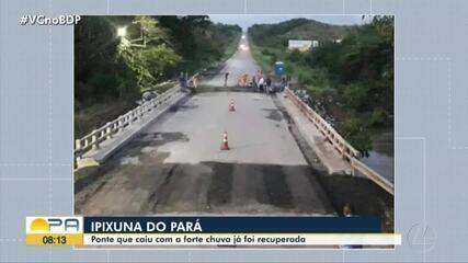 Ponte que dá acesso a Ipixuna do Pará tem tráfego liberado