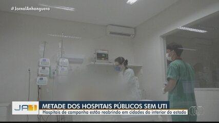 Metade dos hospitais públicos que atendem pacientes com Covid-19 estão lotados em Goiás
