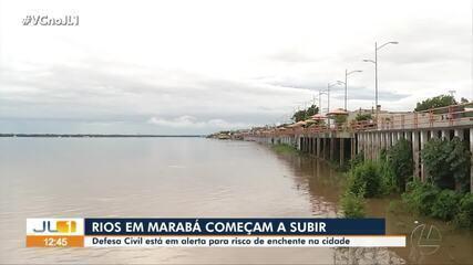 Defesa Civil alerta sobre riscos de enchentes em Marabá com aumento no nível de rios