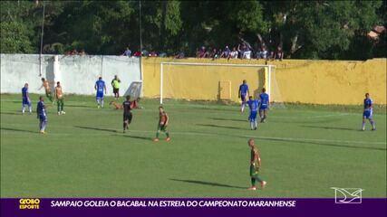 Bacabal 0 x 4 Sampaio pela #1 rodada do Campeonato Maranhense 2021
