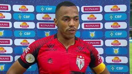 """Marlon Freitas fala sobre sequência intensa e elogia campeonato do Atlético-GO: """"Deixamos uma imagem positiva"""""""