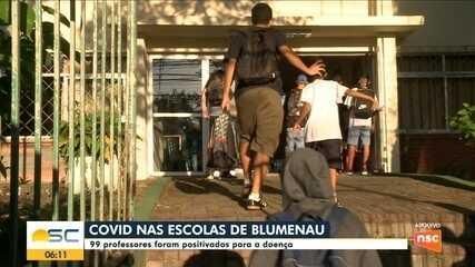 Surtos de Covid-19 atingem escolas e creches de Blumenau e 99 professores testam positivo
