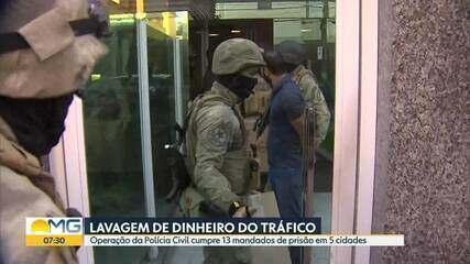 Operação da Polícia Civil combate esquema milionário de lavagem de dinheiro do tráfico