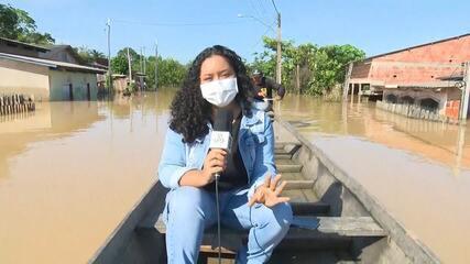Sena Madureira está com 70% da cidade debaixo d'água