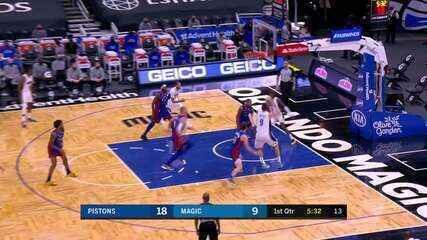 Melhores momentos: Orlando Magic 93 x 105 Detroit Pistons pela NBA