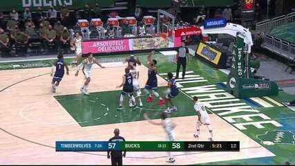 Melhores momentos: Milwaukee Bucks 139 x 112 Minnesota Timberwolves pela NBA