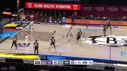 Melhores momentos: Brooklyn Nets 127 x 118 Sacramento Kings pela NBA