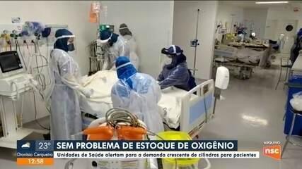 Unidades de Saúde alertam para possível alta na demanda de cilindros de oxigênio para pacientes em SC