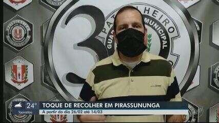 Pirassununga publica novo decreto e terá toque de recolher a partir da sexta-feira (26)