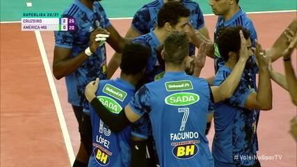 Melhores momentos: Cruzeiro 3 x 0 América-MG pela Superliga Masculina de Vôlei