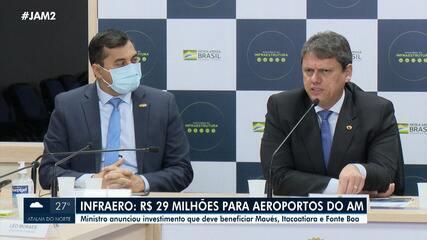 Infraero: R$ 29 milhões serão destinados para aeroportos do Amazonas