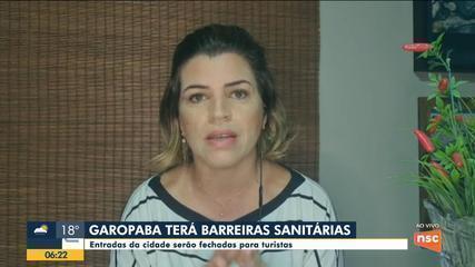 Garopaba terá barreiras sanitárias por causa da Covid