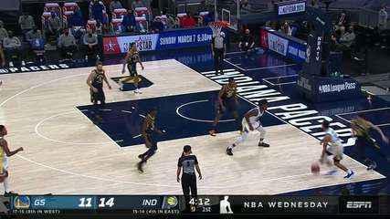 Melhores momentos: Indiana Pacers 107 x 111 Golden State Warriors pela NBA
