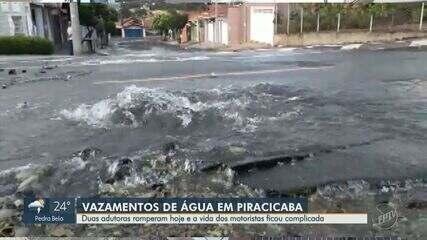 Rompimento de adutora interrompe fornecimento de água em bairro de Piracicaba