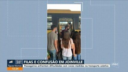 Passageiros enfrentam dificuldades com novas medidas no transporte coletivo em Joinville