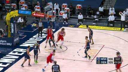 Melhores momentos: Denver Nuggets 110 x 112 Washington Wizards pela NBA