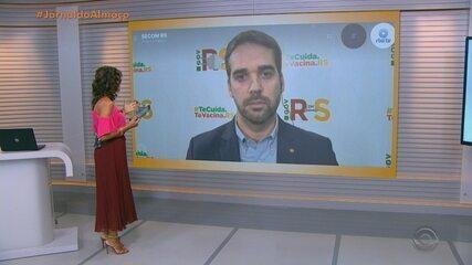Governador Eduardo Leite fala sobre a bandeira preta em todo o RS