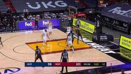 Melhores momentos: Miami Heat 124 x 116 Utah Jazz pela NBA