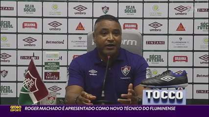 Roger Machado é apresentado como novo técnico do Fluminense