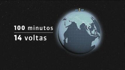 VÍDEO: Satélite Amazônia 1 levará 100 minutos para dar uma volta na Terra; entenda