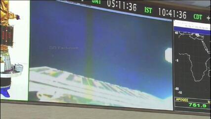 VÍDEO: Veja o momento em que o satélite Amazônia 1 se desprende de foguete e entra em órbita
