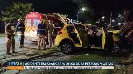Irmão morrem vítimas de acidente em Araucária