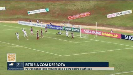Patrocinense perde para o Athletic na estreia em casa no Mineiro