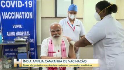 Índia amplia campanha e quer vacinar 300 milhões até fim do primeiro semestre