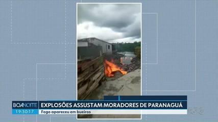 Explosões assustam moradores de Paranaguá