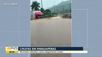 Em Parauapebas, chuva deixa município com ruas alagadas