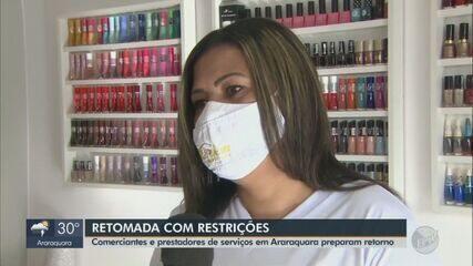 Comerciantes e prestadores de serviços de Araraquara se preparam para retorno ao trabalho